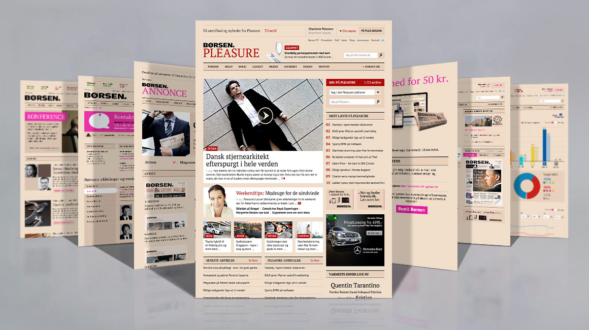 Dagbladet Børsen digital design