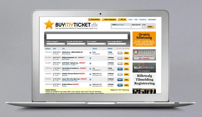 BuyMyTicket portal