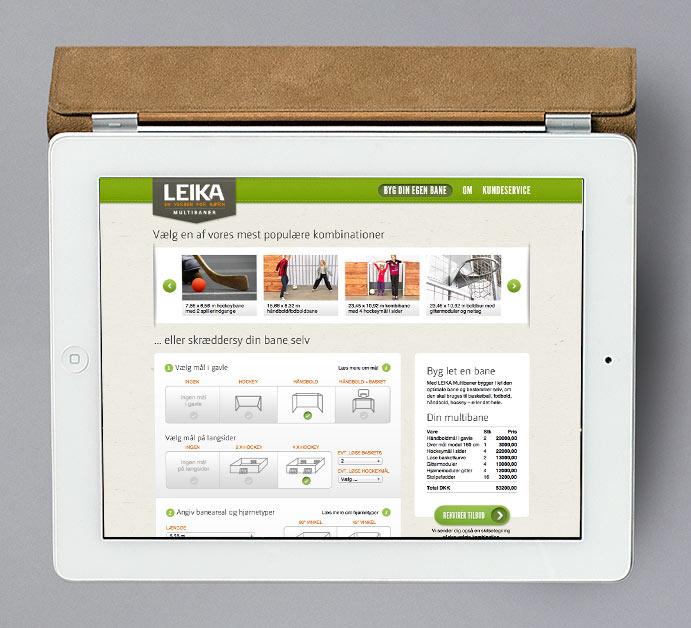 LEIKA Multibaner konfiguration webapp