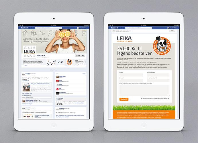 LEIKA facebook app