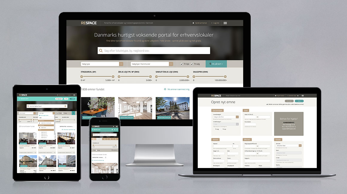 Respace Commercial Real Estate portal