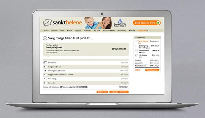 Sankt Helene hjemmeside