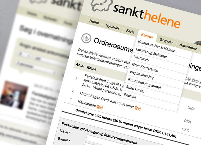 Sankt Helene booking website